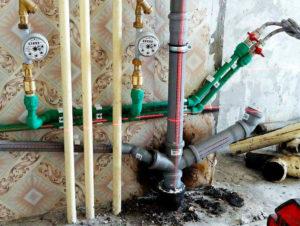замена стояка воды и канализации